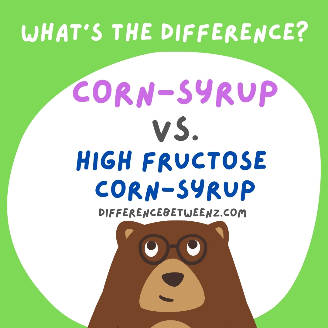 Corn Syrup and High Fructose Corn Syrup