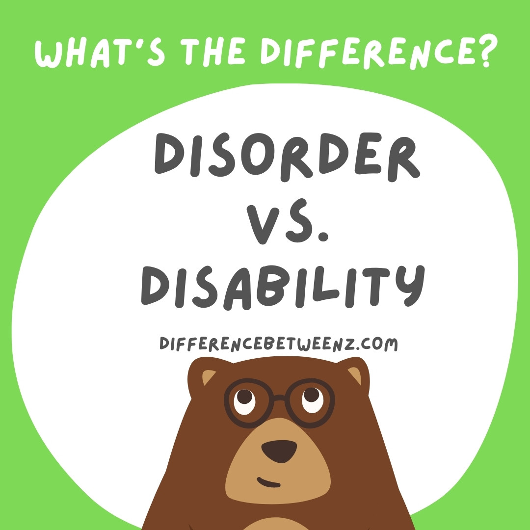 disorder and disability