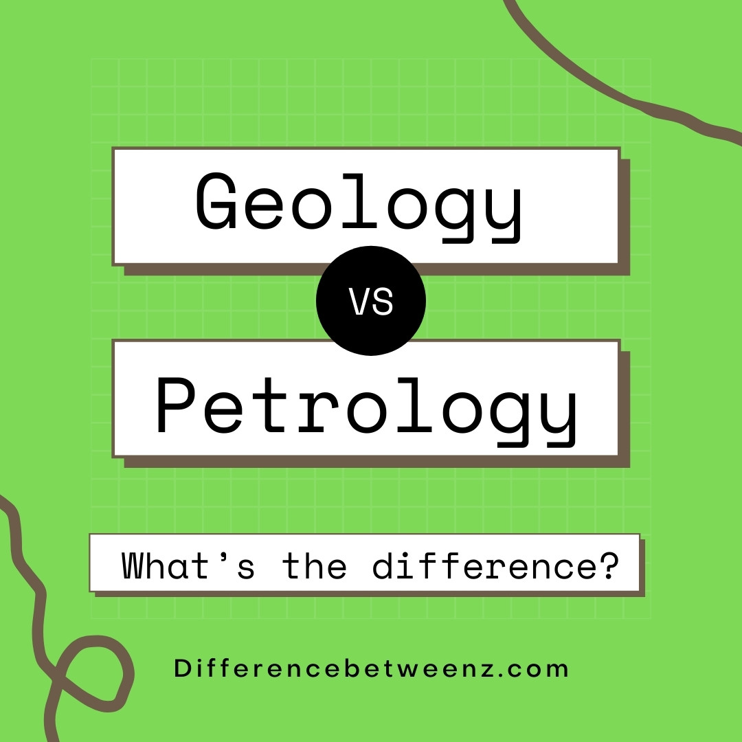 difference between geology and petrology