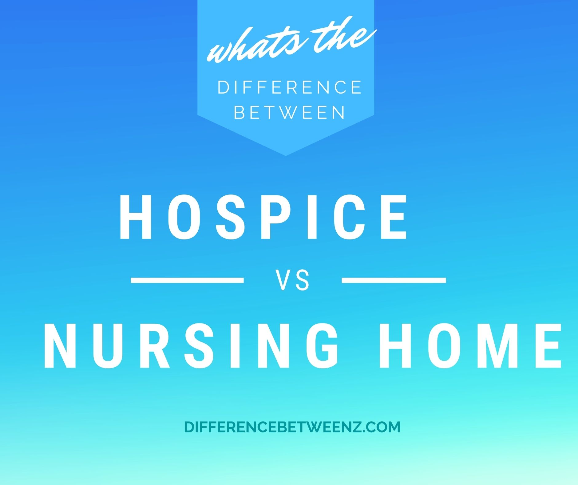 Difference between hospice and Nursing Home