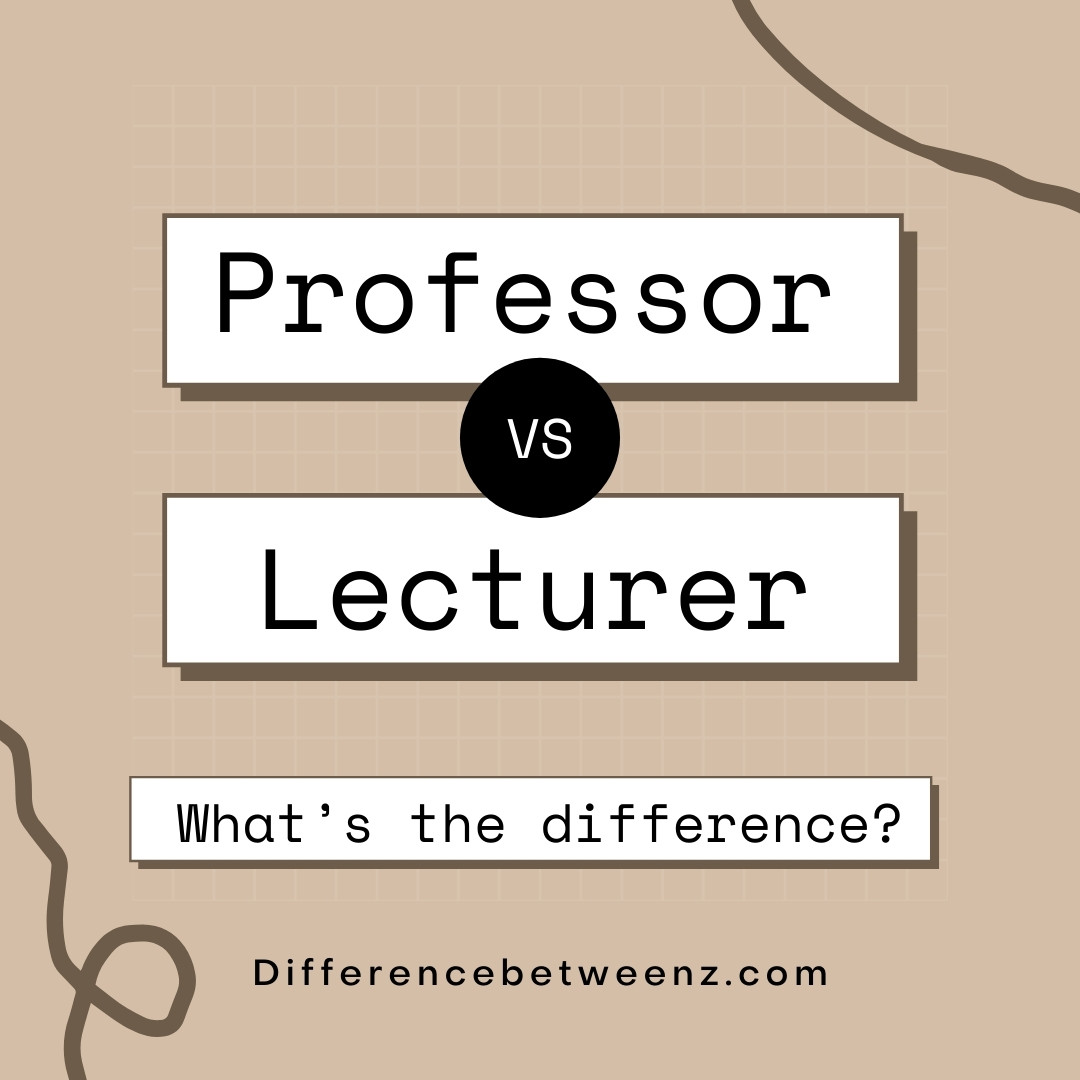 difference between lecturer and professor