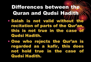 Difference Between Hadith and Quran