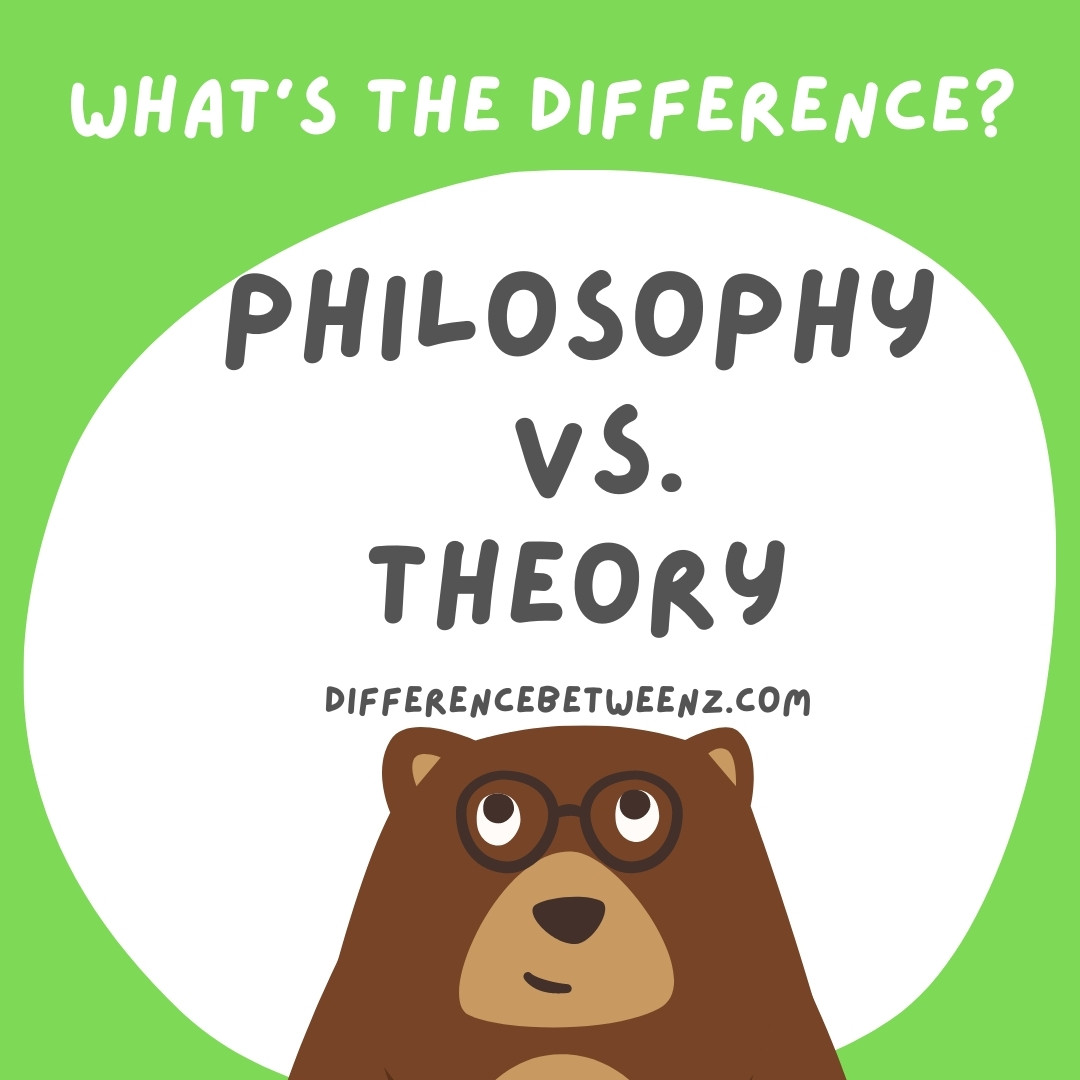 Difference Between Philosophy and Theory