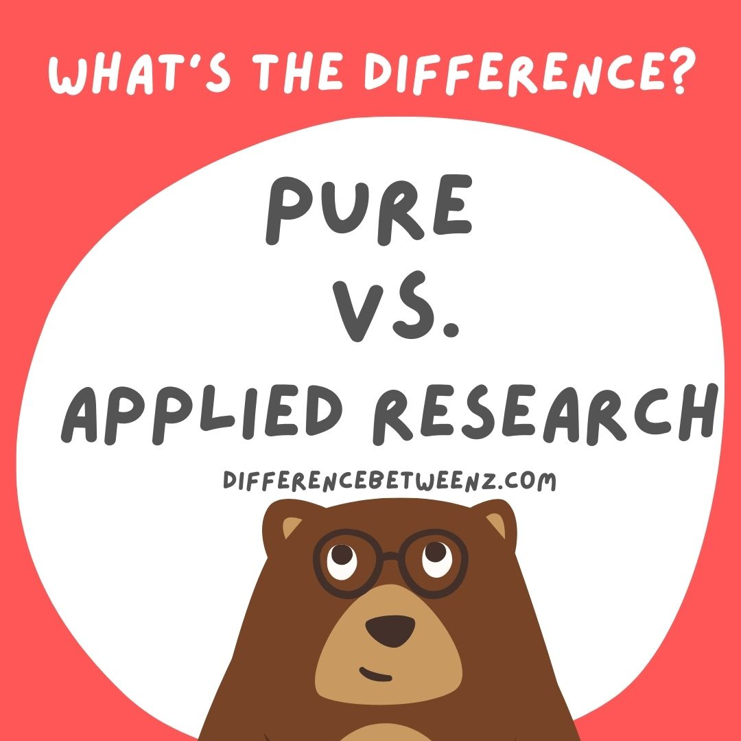 pure research vs applied research