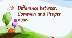 Difference between Common and Proper Nouns