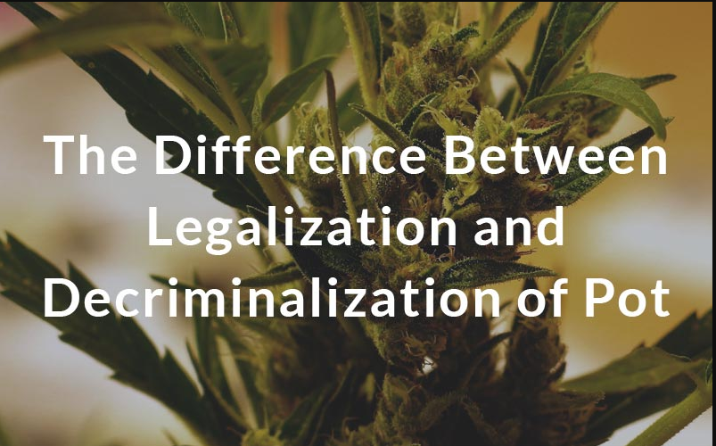 Difference between Decriminalization and Legalization