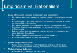 Difference between Empiricism and Skepticism