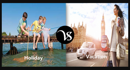 Difference between Holidays and Vocations