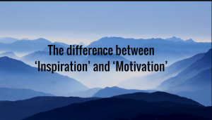 Difference between Inspiration and Motivation