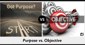 Difference between Purpose and Objective
