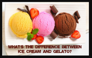 Difference between ice cream and cold dessert