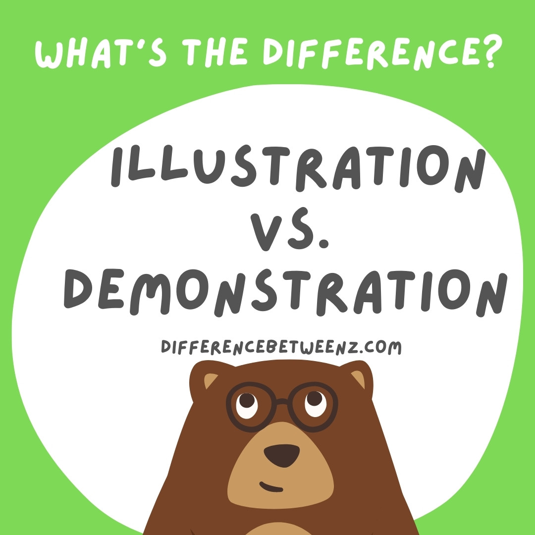 difference between illustration and demonstration