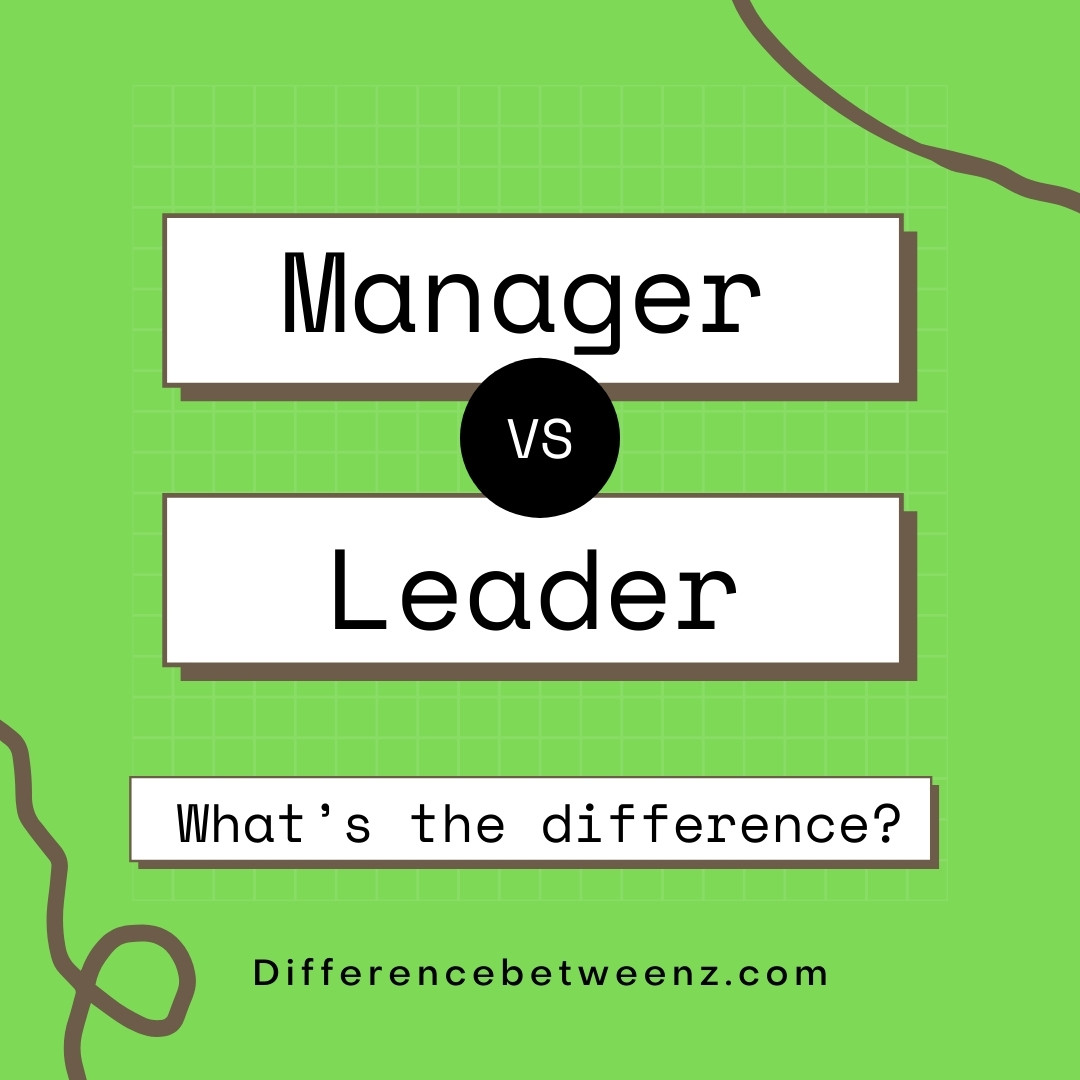 manager and leader comparison