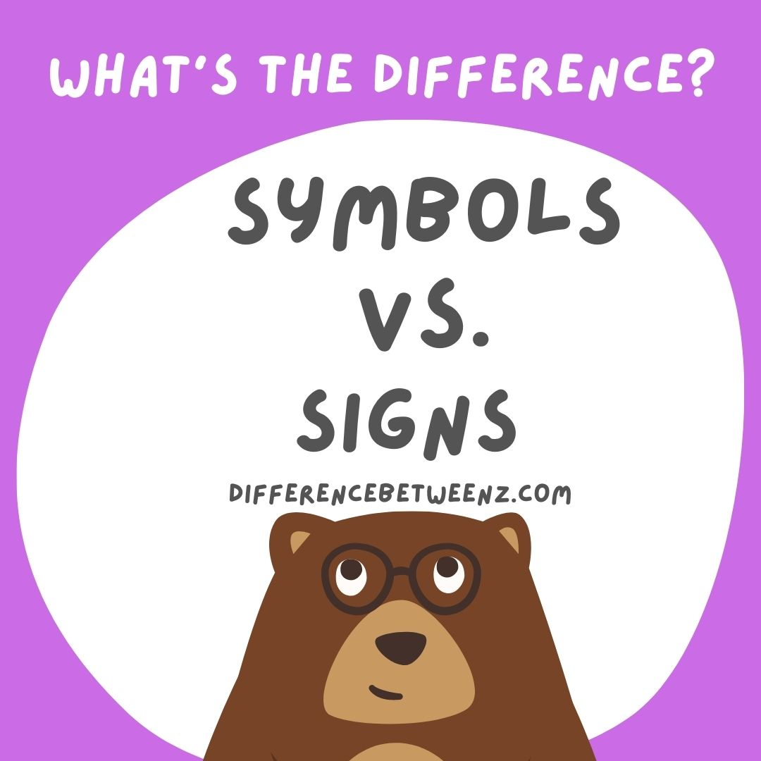 Difference between Sign and Symbol