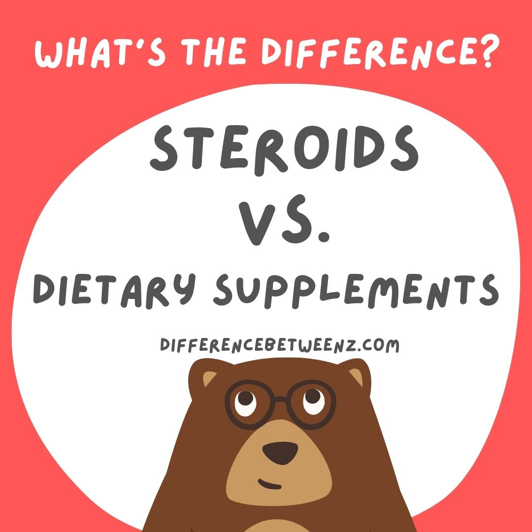steroids vs dietary supplements