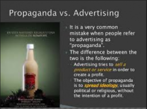 Difference between Advertising and Propaganda