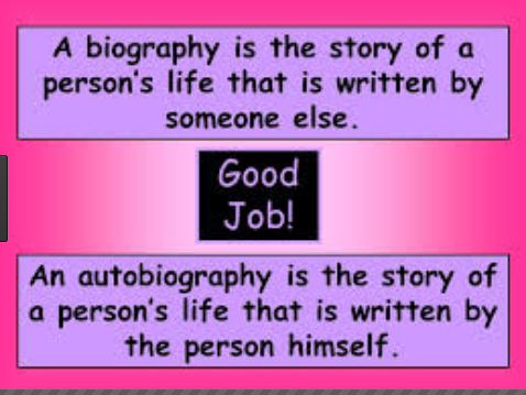 Difference between Biography and Autobiography