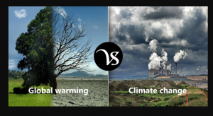 Difference between Climate change and Global Warming