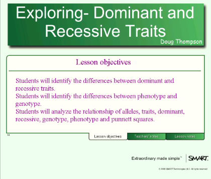 Difference between Dominant and Recessive