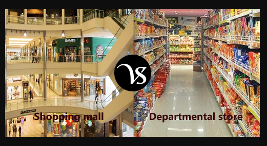 Difference between Mall and Department Store