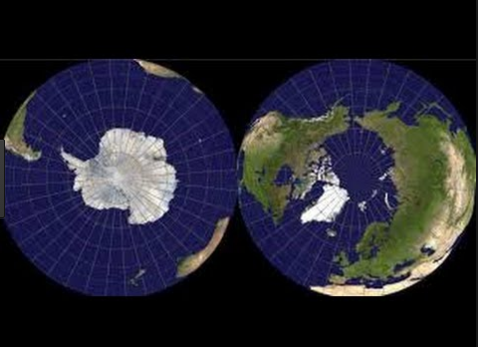 Difference between North and South Pole
