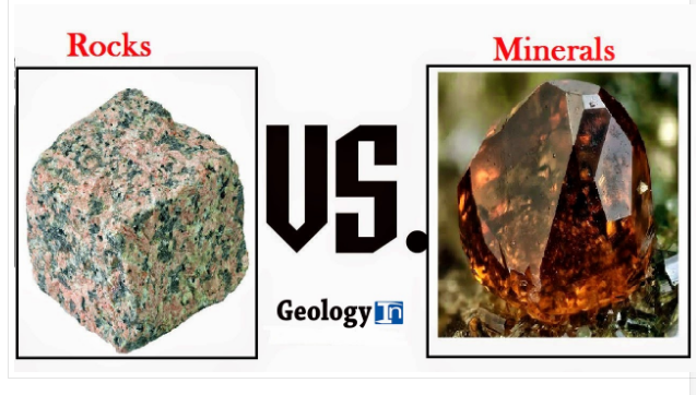 Difference between Rocks and Minerals