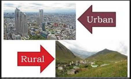 Difference between Rural and Urban Areas