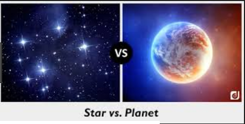 difference between stars and planets with comparison - 477×242