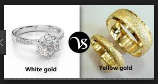 Difference between White Gold and Yellow Gold