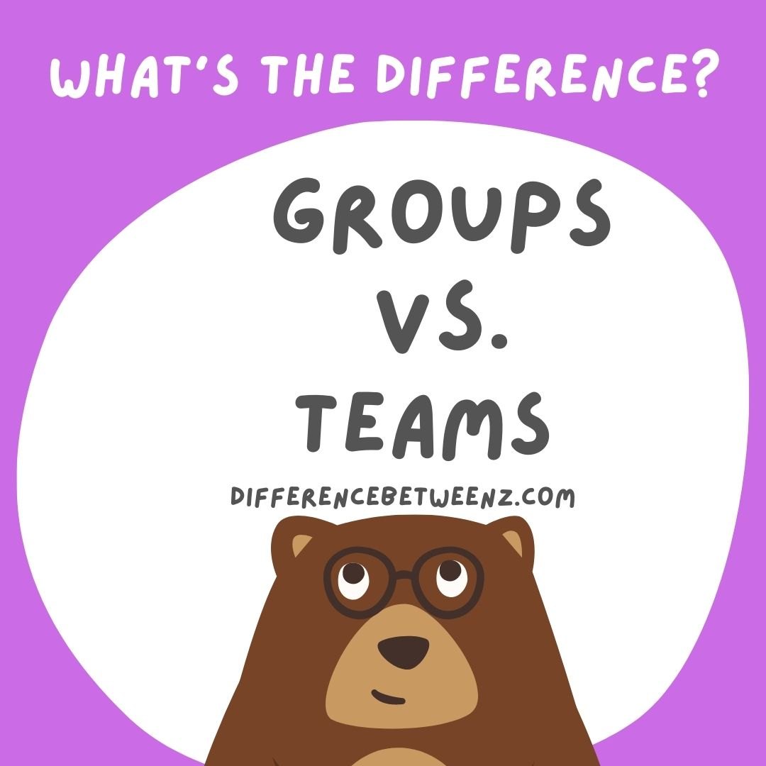 Difference between group and team