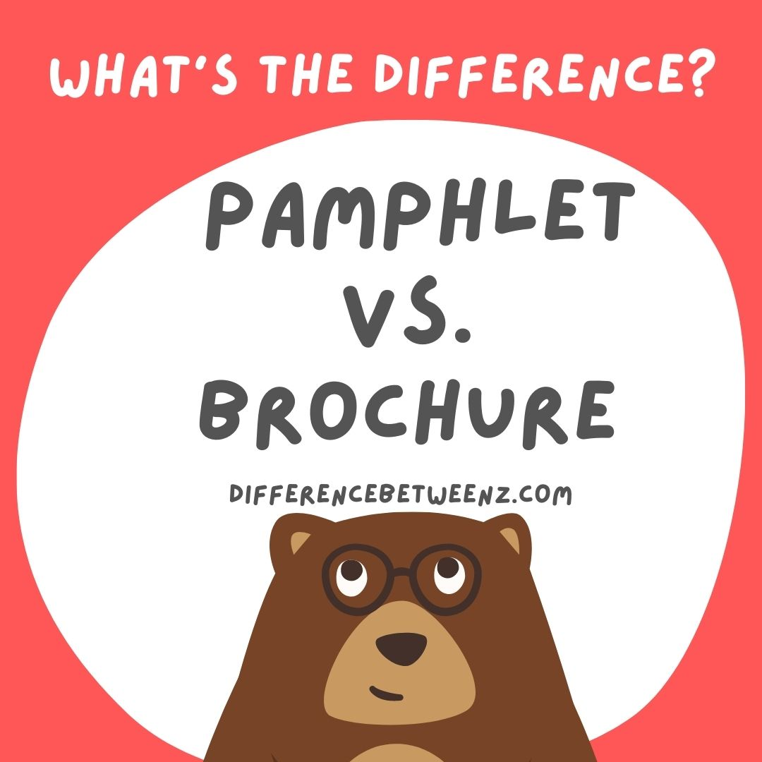 difference between pamphlet and brochure