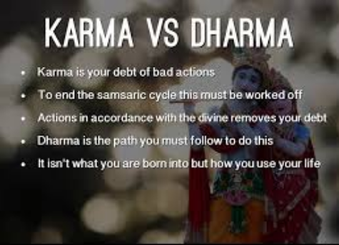 Difference between Karma and Dharma