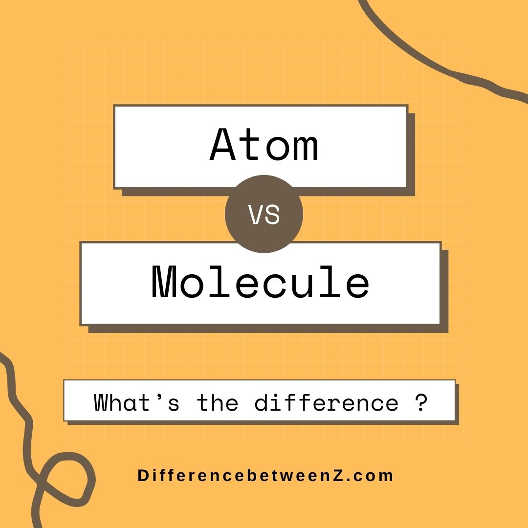 Difference Between Atom And Molecule