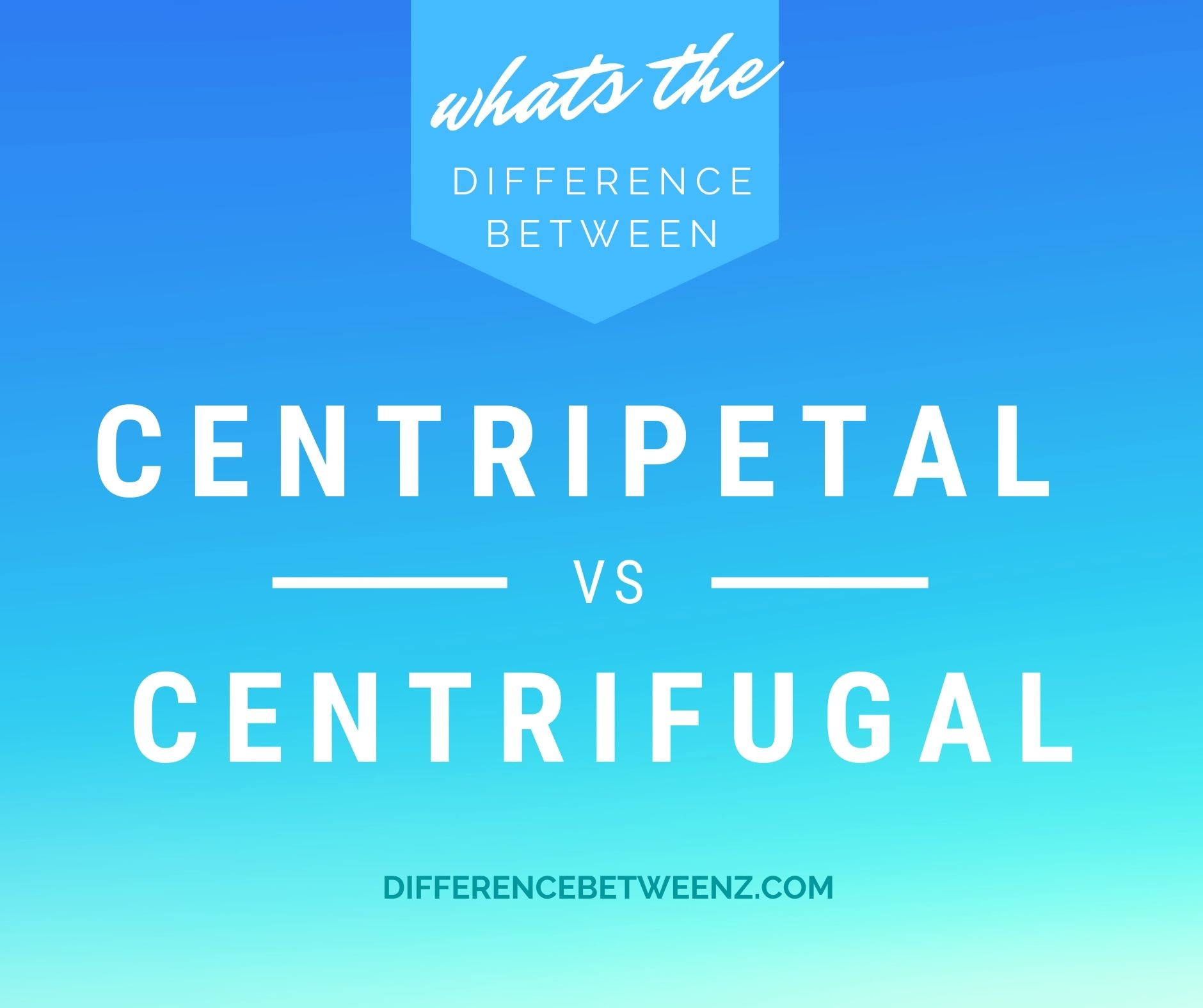 Difference between Centripetal and Centrifugal Force