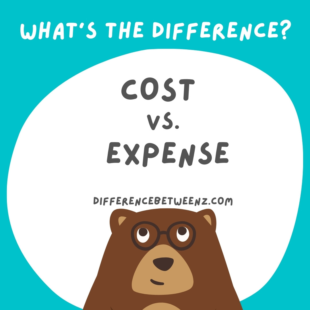Difference between Cost and Expense