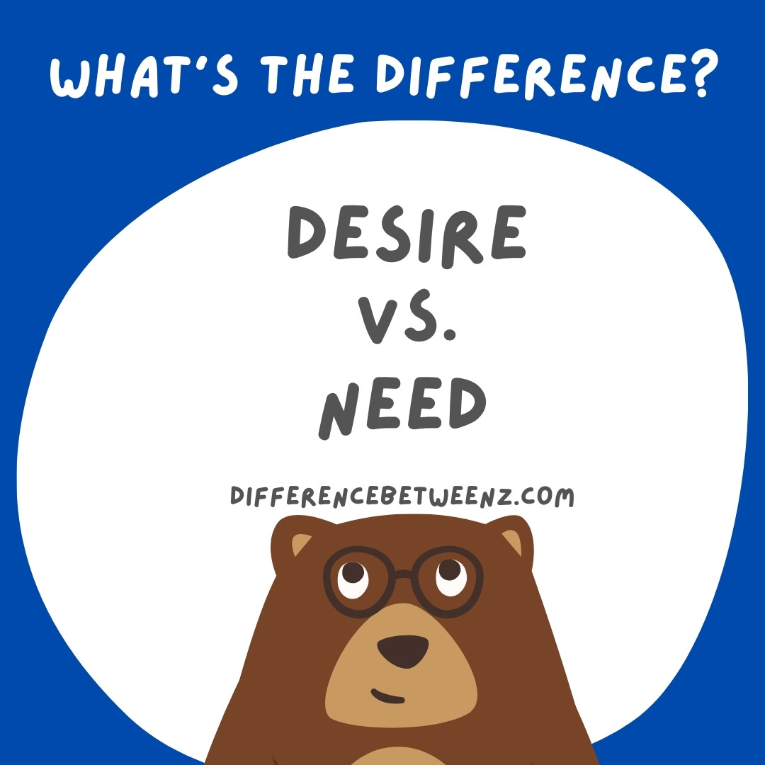 Difference between Desire and Need