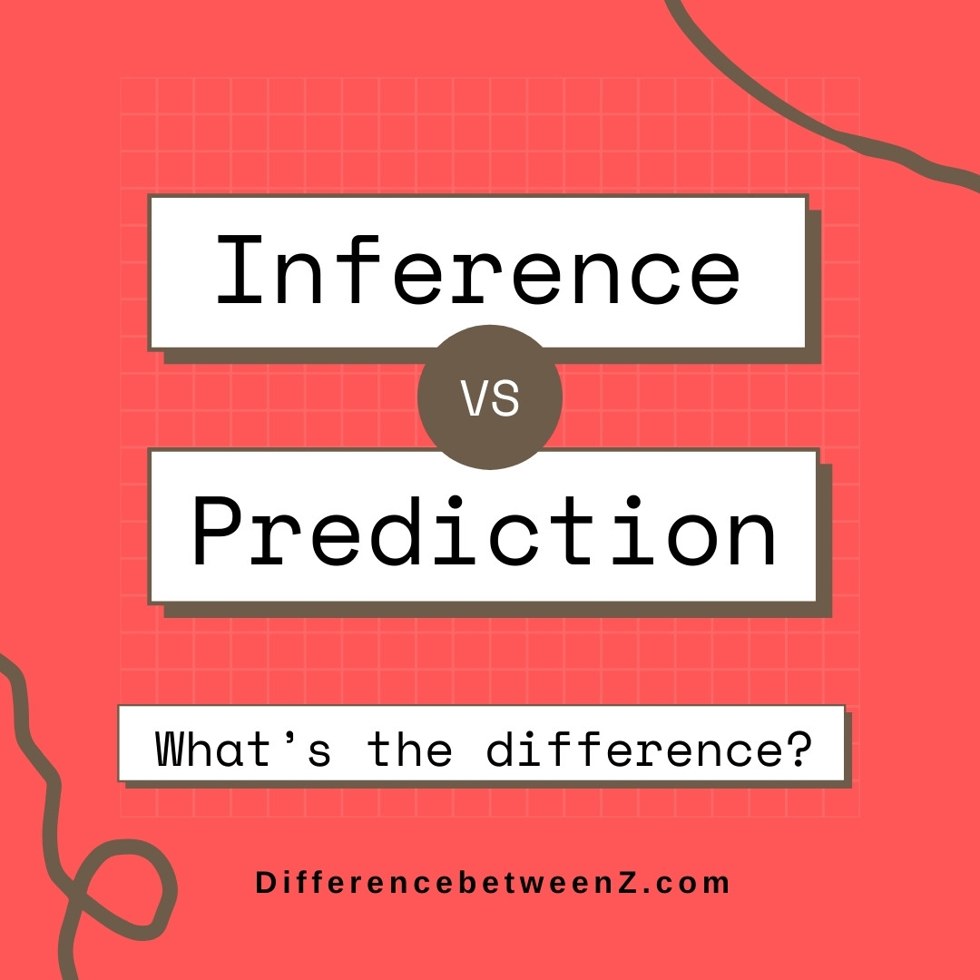 Difference between Inference and Prediction